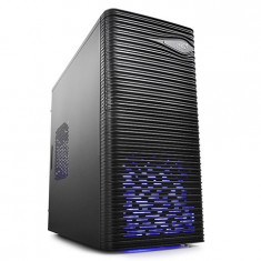 CARCASA DeepCool fara sursa Wave LED mATX Mini-Tower, 1* 120mm BLUE LED fan (inclus), front audio & 1x USB 3.0, 1x USB 2.0, black