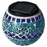 Lampa solara cu mozaic din sticla Home MX 512/K, albastra, led