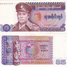 BURMA 35 kyats 1986 UNC!!!
