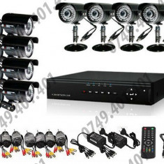 Kit supraveghere CCTV 8 Camere Interior&Exterior HD, 720p, Meniu lb. romana
