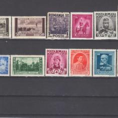Romania 1938 Centenarul nasterii regelui Carol I 13 valori - Timbre Romania, Regi, Nestampilat