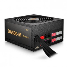 SURSA DeepCool 500W (real), modulara, PWM fan 140mm, 85% eficienta, 5x S-ATA