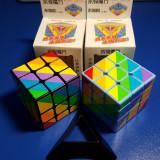 Cub Rubik 3x3x3 YJ Unequal Cube (Rainbow) 56mm - Jocuri Logica si inteligenta