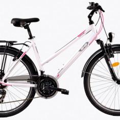 Bicicleta DHS Travel 2656 (2017) Alb, 480mmPB Cod:21726564890 - Bicicleta de oras DHS, 12 inch, Otel