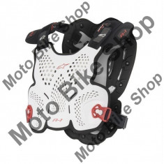 MBS ALPINESTARS BRUSTPANZER A1 GROSS, weiss-schwarz-rot, XL-2XL, 17/019, Cod Produs: 6700116213XLAU - Armura moto