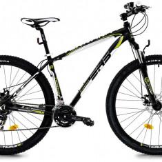 Bicicleta DHS Terrana 2925 (2017) Negru-Verde, 457mmPB Cod:21729254568 - Mountain Bike DHS, 18 inch