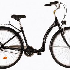 Bicicleta DHS Citadinne 2836 (2017) Negru, 420mmPB Cod:21728364260 - Bicicleta de oras DHS, 11 inch, Otel
