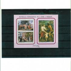SAO TOME & PRINCIPE - Colita pictura - RUBENS - Timbre straine, Nestampilat