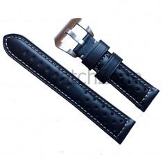 Curea neagra ceas 20mm 22mm 24mm Curea ceas neagra Curea ceas piele