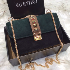 Valentino Garavani Chain Cross Body Varietate de culori - Geanta Dama Valentino, Culoare: Din imagine, Marime: Masura unica, Geanta de umar, Piele