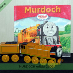 Thomas Wooden Railay - locomotiva MURDOCH ed. 2003 - carte cadou - 100% original - Trenulet