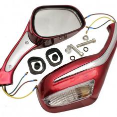 Set 2 Oglinzi cu semnal Scuter ( rosii ) - Oglinzi Moto