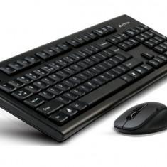KIT WIRELESS A4Tech: Tehnologie V-Track (GK-85 + G3-220N), USB, Black - Tastatura