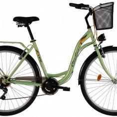 Bicicleta DHS Citadinne 2834 (2017) Verde, 450mmPB Cod:21728344580 - Bicicleta de oras DHS, 11 inch, Otel