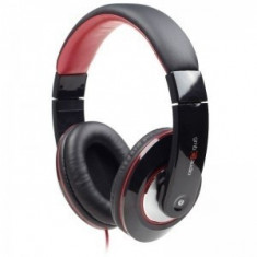 CASTI Gembird stereo cu microfon, dimensiune mare, Boston (MHS-BOS), 3.5mm smartphone jack, black/red - Casca PC