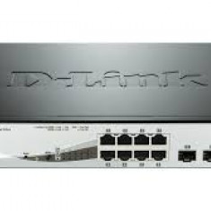 PoE (Power Over Ethernet) Switch Smart 8-port-uri PoE Gigabit + 2 SFP ports, D-Link
