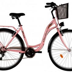 Bicicleta DHS Citadinne 2834 (2017) Roz, 505mmPB Cod:21728345011 - Bicicleta de oras DHS, 13 inch, Otel