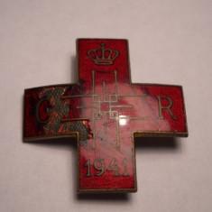 Insigna Regalista Crucea Rosie Societatea Regina Elena