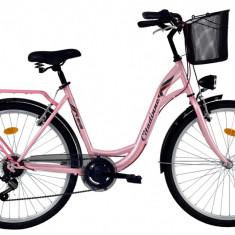 Bicicleta DHS Citadinne 2634 (2017) Roz, 480mmPB Cod:21726344811 - Bicicleta de oras DHS, 12 inch, Otel