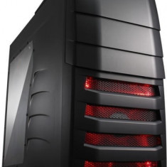 CARCASA CM STORM Enforcer, fara sursa, mid-tower, ATX, 1* 200mm red LED fan & 1* 120mm (inclus), I/O panel, side window & front panel door, black... - Carcasa PC Cooler Master