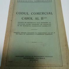CODUL COMERCIAL CAROL AL II LEA - 1938 - Carte Drept comercial