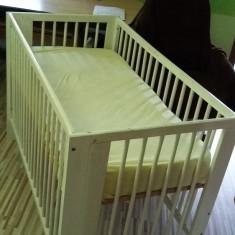Patut copiii - Patut lemn pentru bebelusi, Alte dimensiuni, Alb