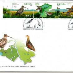LITUANIA 2007, FDC, Fauna - Pasari, Europa
