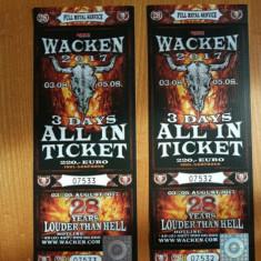2 bilete Wacken 2017 - Bilet concert