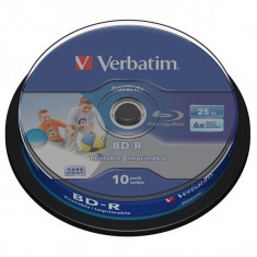 BD-R Verbatim SL DATALIFE 6X 25GB 10PK SPINDLE WIDE PRINTABLE NO ID