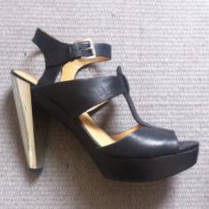 Sandale platforma NINE WEST - Sandale dama Nine West, Culoare: Negru, Marime: 40