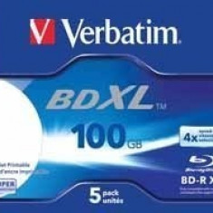 BD-R Verbatim XL DATALIFE 4X 100GB JC WIDE WHITE INKJET PRINTABLE HARDCOAT SURFACE