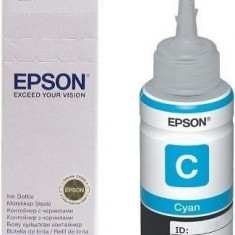 Cartus cerneala Original Epson Cyan C13T66424A compatibil L100/L200/L110/L210/L300/L355/L550