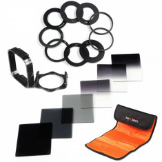 Set 6 filtre Cokin tip P + 9 inele adaptoare + holder K&F Concept - Lentile conversie foto-video