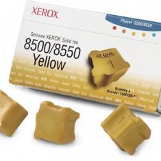 Cartus cerneala Original Xerox Yellow, compatibil Phaser 8500/8550, 3 sticks, 3000pag