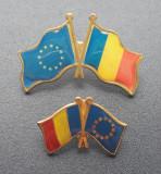 Lot Insigne steagul Romaniei si al UE