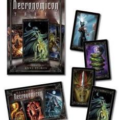 Necronomicon Tarot Cards Kit [With BookWith Tarot CardsWith Black Organdy Bag] - Carte ezoterism