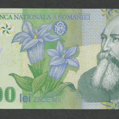 ROMANIA 10000 10.000 LEI 2000 ( prefix 00 ) a UNC [1] semnatura GHIZARI - Bancnota romaneasca