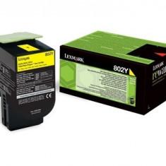 Toner Original pentru Lexmark Yellow 802Y, compatibil CX310/410/510, 1000pag