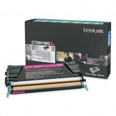 Toner Original pentru Lexmark Magenta, compatibil C736/X736/738, 10000pag