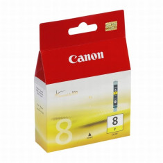 Cartus cerneala Original Canon CLI-8Y, Yellow, compatibil iP4200
