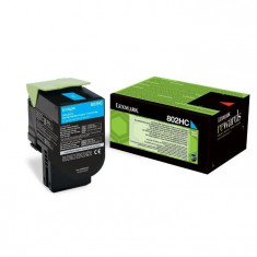 Toner Original pentru Lexmark Cyan 802HC, compatibil CX310/410/510, 3000pag