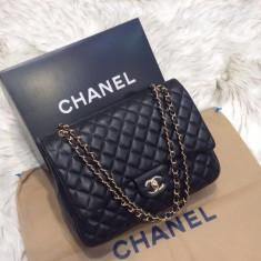 Genti Chanel Classic Flap 4.55 Collection - Geanta Dama Chanel, Culoare: Din imagine, Marime: Masura unica, Geanta de umar, Piele