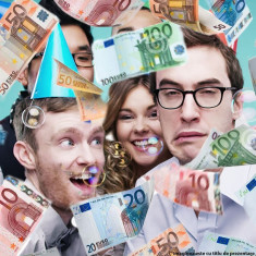 Tun confetti party bani falsi euro 60 cm - Decoratiuni petreceri copii