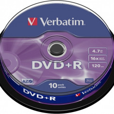 DVD+R Verbatim SL 16X 4.7GB 10PK SPINDLE MATT SILVER