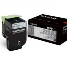 Toner Original pentru Lexmark Negru, compatibil CX310/410/510, 2500pag