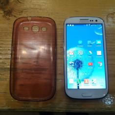 Telefon samsung s3 - Telefon mobil Samsung Galaxy S3, Alb, 16GB, Orange, Dual core, 2 GB