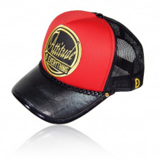 "Sapca Trucker Attitude Red Black ""Fashion Caps Romania"" - Sapca Barbati, Marime: Marime universala, Culoare: Din imagine"