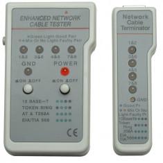 Tester cablu multifunctional, RJ11/RJ45, Gray, Retail Box
