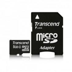 MicroSDHC 8GB (Class 4) + adaptor SD TRANSCEND
