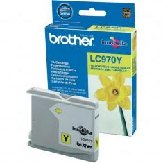 Cartus cerneala Original Brother Yellow LC970Y compatibil MFC235C/260C DCP135C/150C, 300 pag.